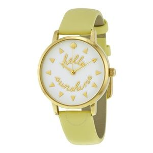 Kate Spade Yellow Hello Sunshine Metro Watch